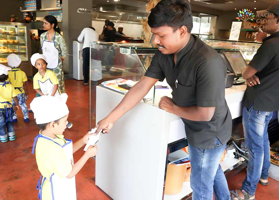 Trip to bakery with kids in Chennai